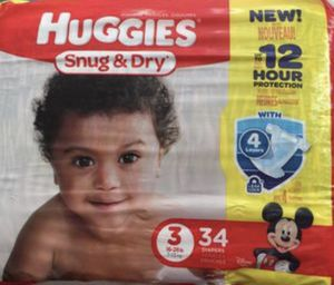 Huggies Diapers size 3 for Sale in Philadelphia, PA