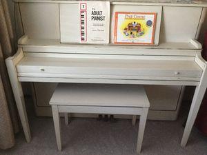 Vintage white piano for Sale in Pleasanton, CA