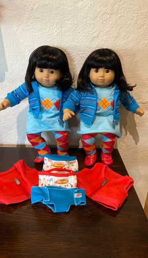 American girl bitty twins baby dolls Asian lot for Sale in Chatham Township, NJ