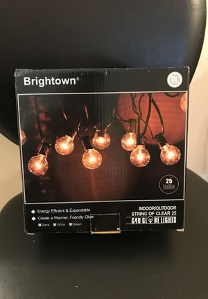 Brightown indoor/outdoor string pool clear 25 bulbs for Sale in Baltimore, MD