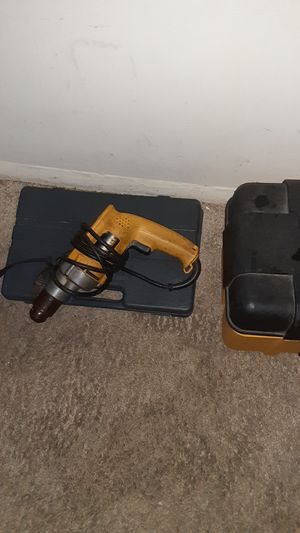 Various tools dewalt power drill tool boxes with tools inside for Sale in Silver Spring, MD