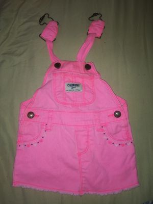 Pink Baby Overall Bib 0-6 months for Sale in Philadelphia, PA