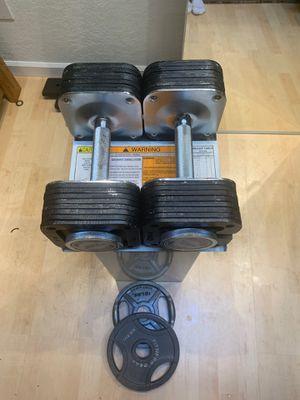 Hoist Adjustable dumbbells 5-45lb & 2x10lb plates for Sale in Seattle, WA