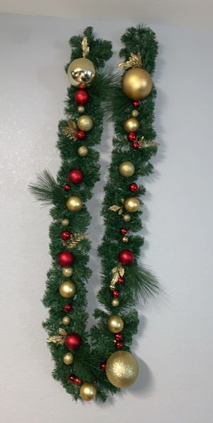 9feet Christmas garland . for Sale in Austin, TX