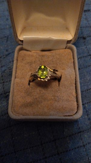 Size 6 ladys 925 silver ring and 10k gold and small diamonds. for Sale in Lock Haven, PA