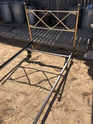 Pair of Twin brass and frame beds $30 each for Sale in Albuquerque, NM