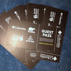 Columbia Sportswear Employee Store Passes for Sale in Gresham, OR