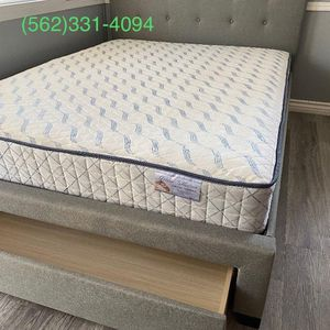 💥New Queen Grey Tufted Upholstered Bed With Storage & New Mattress Included 💥 for Sale in Gilroy, CA