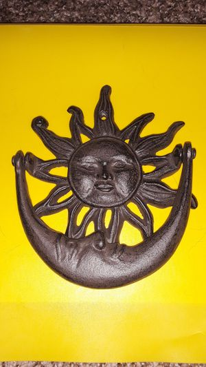 Sun and moon iron door knocker for Sale in Port Richey, FL