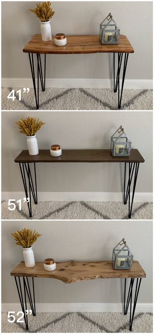 Solid Wood Live Edge Hairpin Legs Console Table Tables Stand Stands Dining for Sale in San Jose, CA