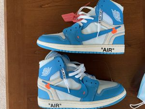 Air Jordan 1 Off-White UNC (lightly used) SZ 10 Men for Sale in Baltimore, MD