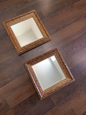 "Mirror square frame gold decorative wall mount 14"" for Sale in Tempe, AZ"