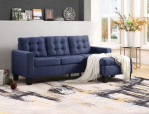 "Dark blue sectional sofa reversible design 81""x 61"" for Sale in Fullerton, CA"