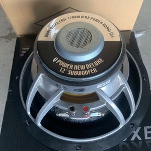 Q power car audio. 12 inch car stereo subwoofer. Large magnet. Huge surround. 1700 watts. Dual voice coil . New Years Super Sale $79 Each New for Sale in Mesa, AZ