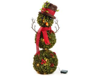 """Winter Wonder Lane Light-Up Battery Operated Topiary Snowman, (36"""") for Sale in Enfield, CT"""
