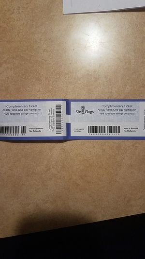 SIX FLAGS TICKETS ANY PARK IN US for Sale in La Porte, IN