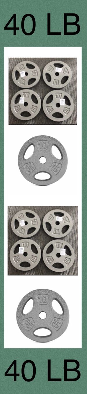 (4) CAP 10lb Standard 1 inch Weight Plates (40 Lb Total) for Sale in Moreno Valley, CA