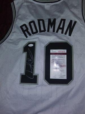 Dennis Rodman autographed jersey for Sale in Abilene, TX