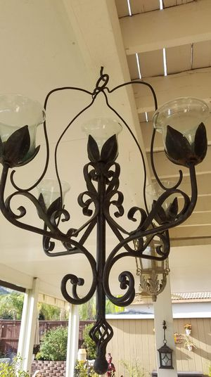 Large wrought-iron handmade Chandelier for Sale in Wildomar, CA