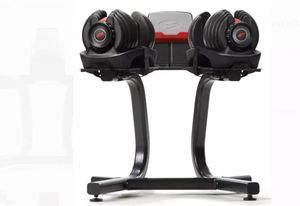 Bowflex Selecttech Dumbbell stand with media rack for Sale in Ocoee, FL