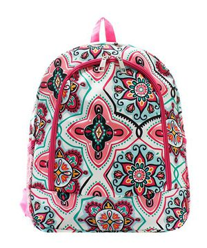 H. PINK LARGE CANVAS GEOMETRIC FLOWER GARDEN BACKPACK/BOOK BAG! NEW! for Sale in Flowery Branch, GA