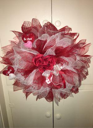 valentine day wreath for Sale in Taunton, MA