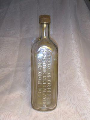 Antique Quack Medicine Bottle Clear Glass DR. FAHRNEY RELIABLE OLD-TIME Preparation Home Use for Sale in Port Huron, MI