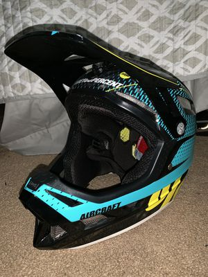 100% aircraft downhill mountain bike helmet, includes 100% race craft goggles(size medium) for Sale in Beaumont, CA