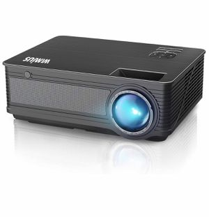 "Projector, WiMiUS P18 Upgraded 4200 Lumens LED Projector Support 1080P 200"" Display 50,000H LED Compatible with Amazon Fire TV Stick Laptop iPhone An for Sale in Lorton, VA"