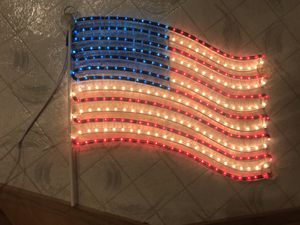 American Flag LED Lights motif wall window home decor for Sale in Portland, OR