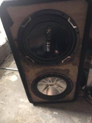 4 12in subwoofer for Sale in Hamtramck, MI