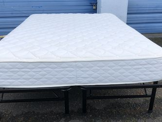 Simple full size bed includes mattress and frame for Sale in Boring,  OR