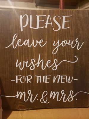 Please Sign Wedding Sign for Sale in Menasha, WI