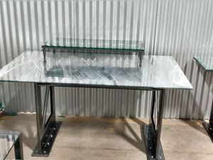 Great Condition Glass Furniture w/Metal Frame for Sale in Annandale, VA