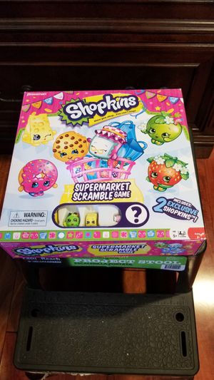 Shopkins Supermarket Scrabble game, kids ages 5+ for Sale in Downey, CA