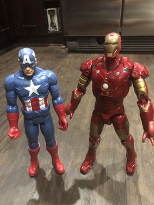 "Captain America & Talking Iron Man action figure dolls 12"" for Sale in Plantation, FL"