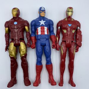 "Marvel Titan Series 12"" Figure Lot Captain America Iron Man for Sale in Charlotte, NC"