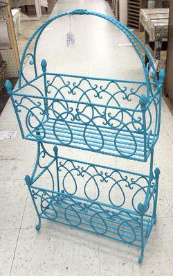2-Tier Turquoise Magazine Rack for Sale in Norcross,  GA