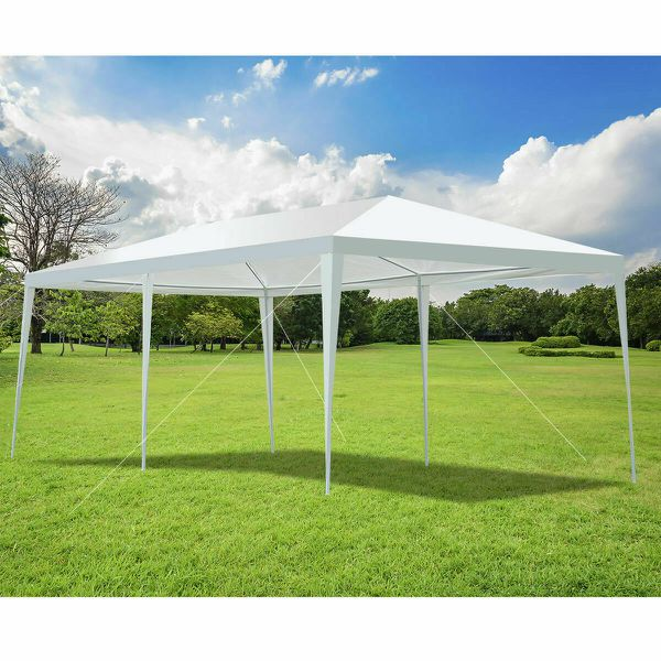 NEW White Canopy Party Wedding Tent Heavy Duty Gazebo Event Outdoor Patio Table Shade Up Car/Truck Swimming Pool EZ bbq Cover Umbrella Shed Shelter