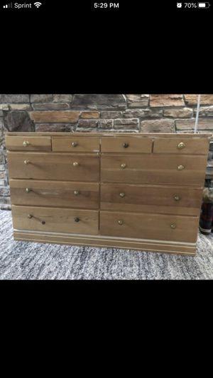 Boho 10 drawer wood dresser for Sale in Arvada, CO