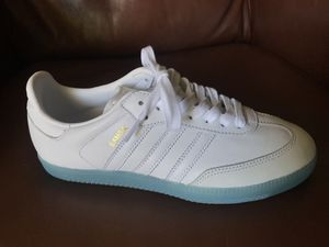 Adidas Samba With Blue Jelly Bottoms - youth 6.5/women's 8 for Sale in Fremont, CA