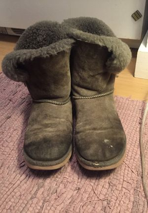Ugg tall boots size 7 olive greenish grey for Sale in Austin, TX