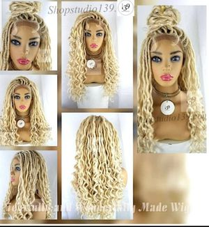 Celebrity dreadlocs twisted lace front human wig natural looking for Sale in Austell, GA