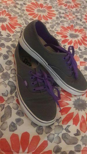 Women's purple and gray Vans 7.5 for Sale in Chesapeake, VA