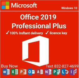 Microsoft Office 2019 Pro Plus & Retail Key BUY NOW TEXT # IN PICTURE for Sale in Houston,  TX
