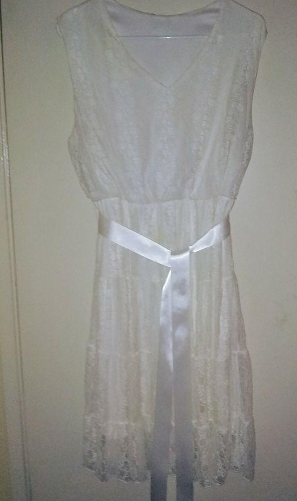 White lace dress size 14