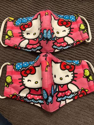 Face mask hello kitty 🐱 two for $12 for Sale in Miami, FL