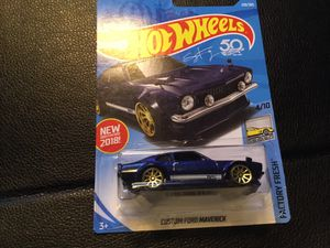 2018 RELEASE CUSTOM BLUE FORD MAVERICK HOTWHEEL with GOLD RIMS for Sale in San Diego, CA