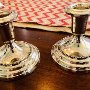 Silver Candle Holders for Sale in Raleigh, NC