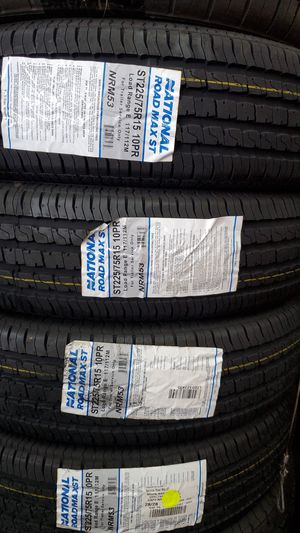 225 75 15 New trailer tires 10ply for Sale in Tucson, AZ